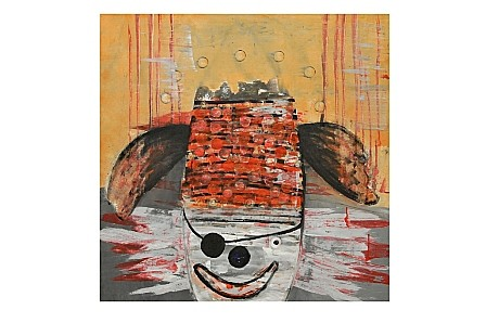 Raouf Rifai, Pirate Clown 2012, Acrylic on canvas