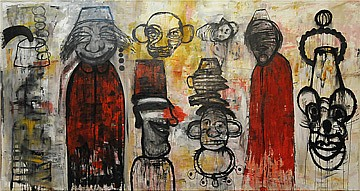 Raouf Rifai, Circus 2012, Acrylic on canvas