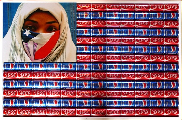 """<p><span class=""""viewer-caption-artist"""">Hassan Hajjaj</span></p> <p><span class=""""viewer-caption-title""""><i>Susa</i></span>, <span class=""""viewer-caption-year"""">2011</span></p> <p><span class=""""viewer-caption-media"""">Mixed Media</span></p> <p><span class=""""viewer-caption-dimensions"""">106 x 72 cm (41 3/4 x 28 3/8 in.)</span></p> <p><span class=""""viewer-caption-description"""">Edition Size: 5 Coca Cola and Pepsi cans</span></p> <p><span class=""""viewer-caption-inventory"""">HHAJ0004</span></p> <p><span class=""""viewer-caption-aux""""></span></p>"""