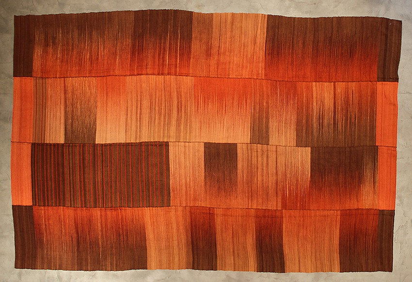 "<p><span class=""viewer-caption-artist"">Iwan Maktabi Collection</span></p> <p><span class=""viewer-caption-title""><i>Mazandaran Hezarjerib IKAT Red & Brown</i></span>, <span class=""viewer-caption-year"">2012</span></p> <p><span class=""viewer-caption-dimensions"">404 x 265 cm (159 x 104 3/8 in.)</span></p> <p><span class=""viewer-caption-inventory"">IWM0029</span></p> <p><span class=""viewer-caption-aux""></span></p>"