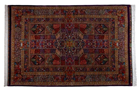 "<p><span class=""viewer-caption-artist"">Iwan Maktabi Collection</span></p> <p><span class=""viewer-caption-title""><i>40000 Ghom Silk Fine-TAKHT JAMCHID-Iran</i></span>, <span class=""viewer-caption-year"">2012</span></p> <p><span class=""viewer-caption-media"">Silk Carpet</span></p> <p><span class=""viewer-caption-dimensions"">301 x 202 cm (118 1/2 x 79 1/2 in.)</span></p> <p><span class=""viewer-caption-inventory"">IWM0030</span></p> <p><span class=""viewer-caption-aux""></span></p>"