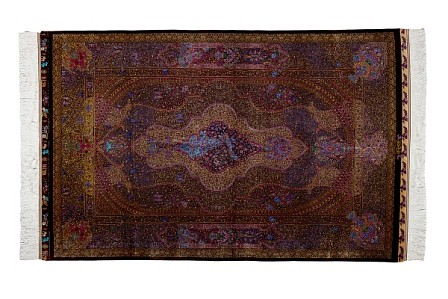 "<p><span class=""viewer-caption-artist"">Iwan Maktabi Collection</span></p> <p><span class=""viewer-caption-title""><i>Ghom Silk ZHABIHI Purple-Iran</i></span>, <span class=""viewer-caption-year"">2012</span></p> <p><span class=""viewer-caption-media"">Silk Carpet</span></p> <p><span class=""viewer-caption-dimensions"">197 x 130 cm (77 1/2 x 51 1/8 in.)</span></p> <p><span class=""viewer-caption-inventory"">IWM0035</span></p> <p><span class=""viewer-caption-aux""></span></p>"