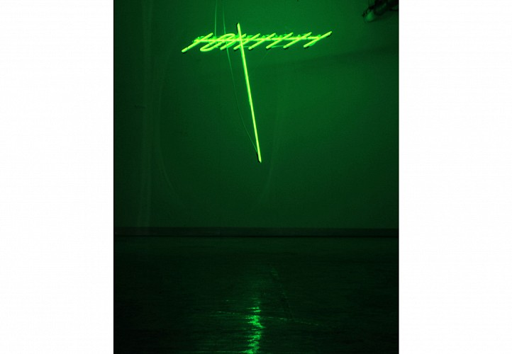 Ahmed Mater, Antenna 2010, Neon Tubes
