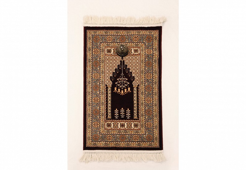 Musaed Al Hulis, He Who Closely Observed People Died of Distress 2013, Prayer Carpet and Surveillance Camera