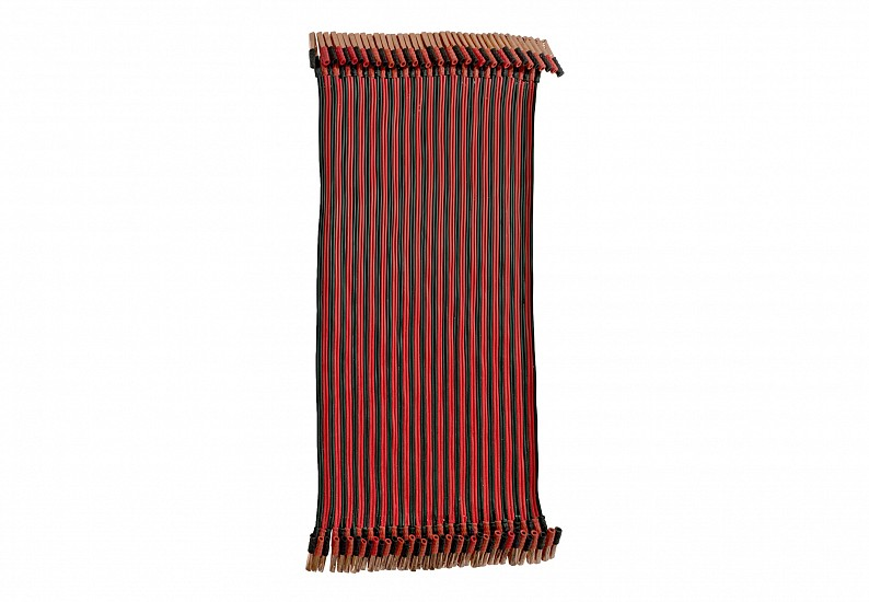 Musaed Al Hulis, Relief Us With It, O Bilal 2014, Carpet out of car jumper cables
