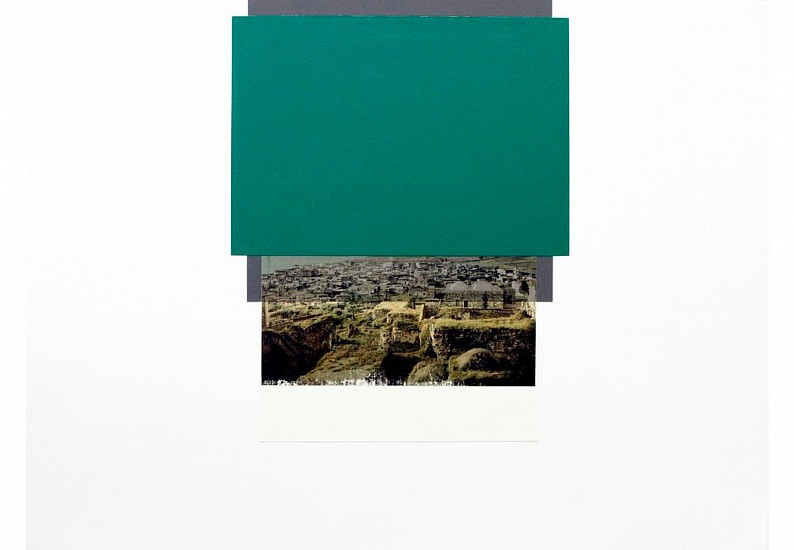 Hazem Harb, TAG 01 from TAG series 2015, Inkjet photo copy print, and collage on fine art paper