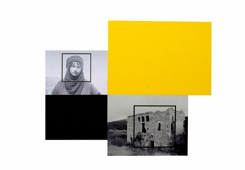 Hazem Harb, TAG 02 from TAG series 2015, Inkjet photo copy print, and collage on fine art paper
