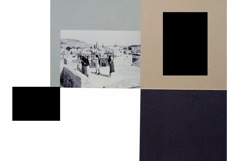 Hazem Harb, TAG 10 from TAG series 2015, Inkjet photo copy print, and collage on fine art paper