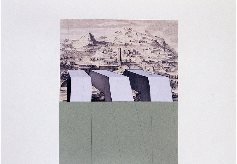 Hazem Harb, Untitled #13 from the Archaeology of Occupation series 2015, Print on Hahnemuhle FineArt Baryta 325gms mounted on 3mm aluminium composite