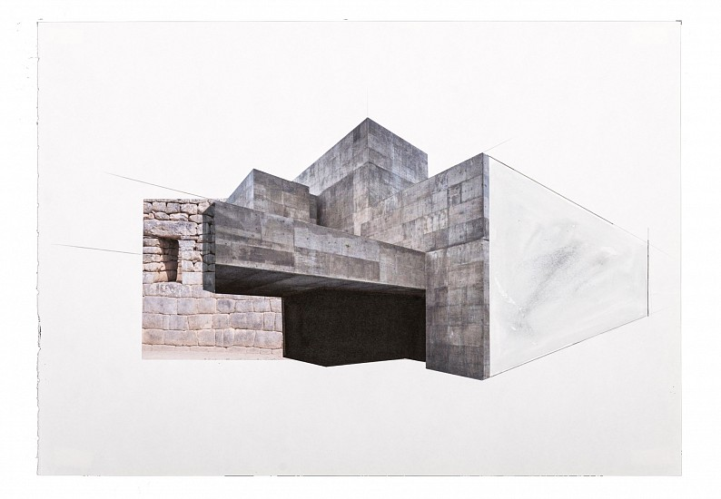 Hazem Harb, Untitled #3 from the Archaeology of Occupation series 2015, Print Collage