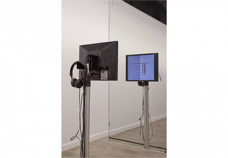 Lawrence Abu Hamdan, The Whole Truth 2012, Audio, mirror, lie detector, bench
