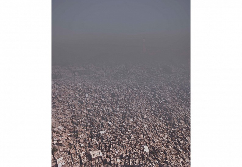 Ahmed Mater, From Real to the Symbolic City 2012, Fineart Latex printer and matt 200g unbleached printing paper