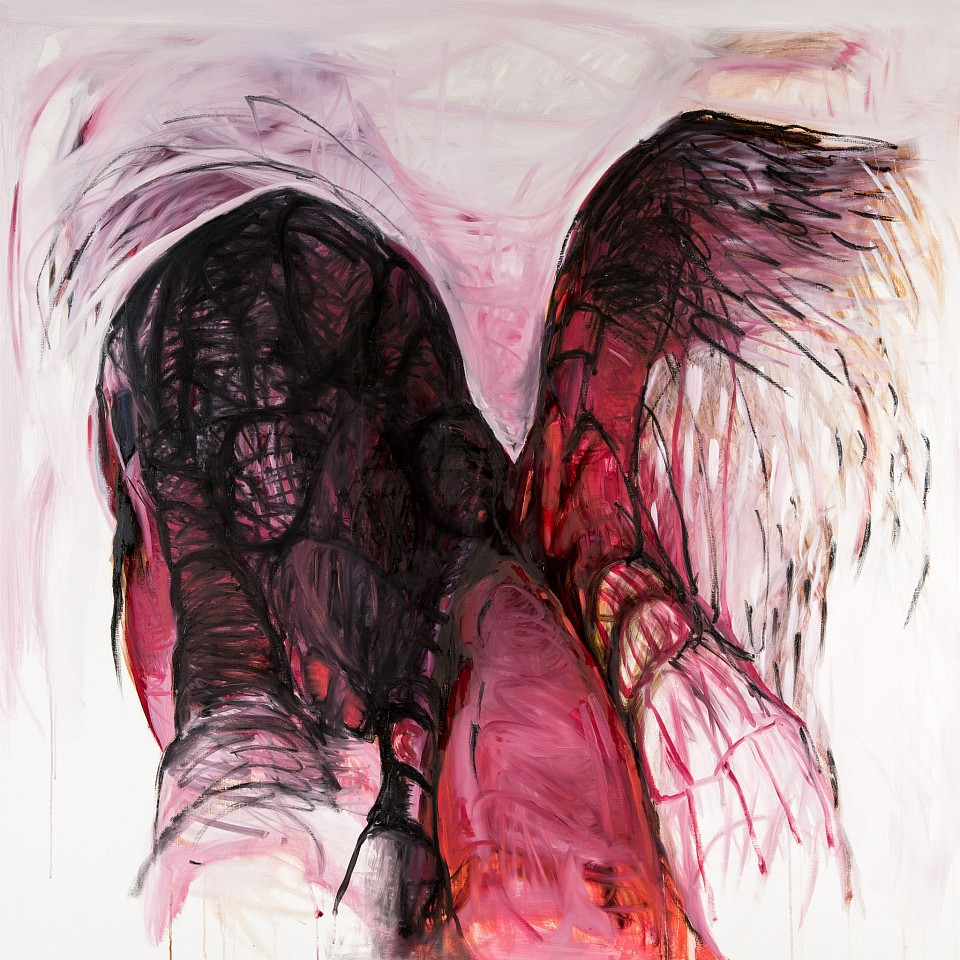 """<p><span class=""""viewer-caption-artist"""">Hala Al Khalifa</span></p> <p><span class=""""viewer-caption-title""""><i>She Wore Her Scars Like Wings, 13</i></span>, <span class=""""viewer-caption-year"""">2016</span></p> <p><span class=""""viewer-caption-media"""">Oil on canvas</span></p> <p><span class=""""viewer-caption-aux""""></span></p>"""