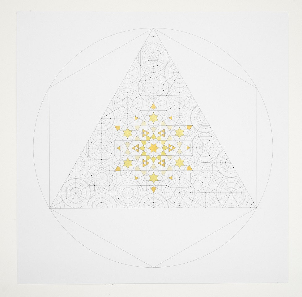 """<p><span class=""""viewer-caption-artist"""">Dana Awartani</span></p> <p><span class=""""viewer-caption-title""""><i>Octahedron Within a Cube  from The Platonic Solid Duals Series</i></span>, <span class=""""viewer-caption-year"""">2016</span></p> <p><span class=""""viewer-caption-media"""">Shell gold and ink on paper</span></p> <p><span class=""""viewer-caption-inventory"""">DAN0114</span></p> <p><span class=""""viewer-caption-aux""""></span></p>"""